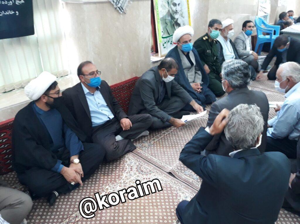 میز خدمت در مسجد جامع کورائیم